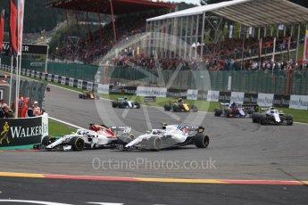 World © Octane Photographic Ltd. Formula 1 – Belgian GP - Race. Williams Martini Racing FW41 – Sergey Sirotkin. Spa-Francorchamps, Belgium. Sunday 26th August 2018.