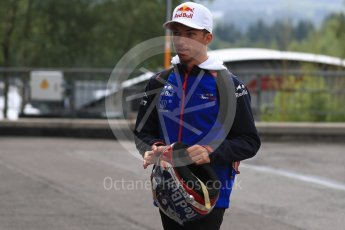 World © Octane Photographic Ltd. Formula 1 – Belgian GP - Paddock. Scuderia Toro Rosso STR13 – Pierre Gasly. Spa-Francorchamps, Belgium. Friday 24th August 2018.