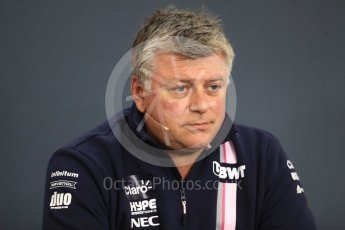 World © Octane Photographic Ltd. Formula 1 - Belgian GP - Friday FIA Team Press Conference. Otmar Szafnauer - Team Principal of Racing Point Force India. Spa-Francorchamps, Belgium. Friday 24th August 2018.
