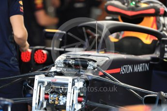 World © Octane Photographic Ltd. Formula 1 – Belgian GP - Pit Lane. Aston Martin Red Bull Racing TAG Heuer RB14. Spa-Francorchamps, Belgium. Thursday 23rd August 2018.