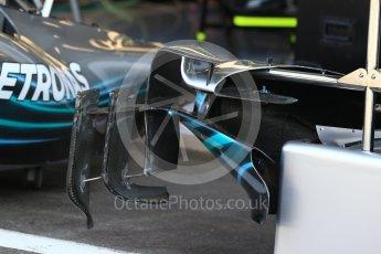 World © Octane Photographic Ltd. Formula 1 – Belgian GP - Pit Lane. Mercedes AMG Petronas Motorsport AMG F1 W09 EQ Power+. Spa-Francorchamps, Belgium. Thursday 23rd August 2018.