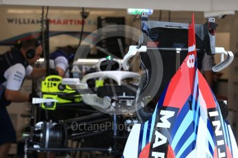 World © Octane Photographic Ltd. Formula 1 – Belgian GP - Pit Lane. Williams Martini Racing FW41. Spa-Francorchamps, Belgium. Thursday 23rd August 2018.
