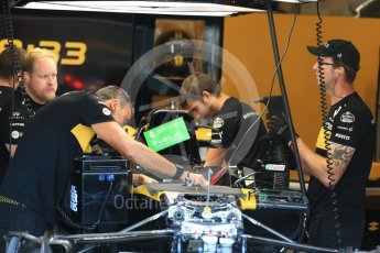 World © Octane Photographic Ltd. Formula 1 – Belgian GP - Pit Lane. Renault Sport F1 Team RS18. Spa-Francorchamps, Belgium. Thursday 23rd August 2018.