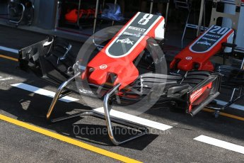 World © Octane Photographic Ltd. Formula 1 – Belgian GP - Pit Lane. Haas F1 Team VF-18. Spa-Francorchamps, Belgium. Thursday 23rd August 2018.