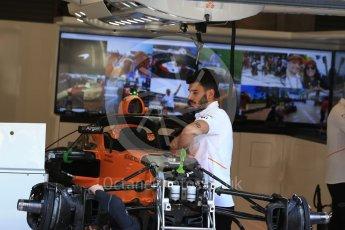 World © Octane Photographic Ltd. Formula 1 – Belgian GP - Pit Lane. McLaren MCL33. Spa-Francorchamps, Belgium. Thursday 23rd August 2018.