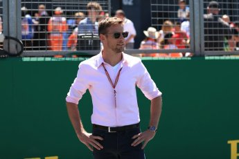 World © Octane Photographic Ltd. Formula 1 – British GP - Drivers' Parade. Jenson Button. Silverstone Circuit, Towcester, UK. Sunday 8th July 2018.