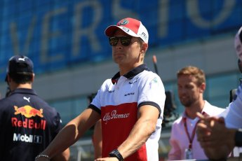 World © Octane Photographic Ltd. Formula 1 – British GP - Drivers' Parade. Alfa Romeo Sauber F1 Team C37 – Marcus Ericsson. Silverstone Circuit, Towcester, UK. Sunday 8th July 2018.