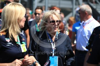 World © Octane Photographic Ltd. Formula 1 - British GP - Grid. Jennifer Saunders. Silverstone Circuit, Towcester, UK. Sunday 8th July 2018.