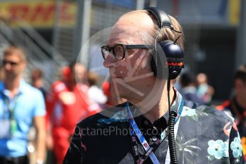 World © Octane Photographic Ltd. Formula 1 - British GP - Paddock. Ade Edmondson. Silverstone Circuit, Towcester, UK. Sunday 8th July 2018.