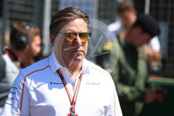 World © Octane Photographic Ltd. Formula 1 - British GP - Grid. Zak Brown - Executive Director of McLaren Technology Group.  Silverstone Circuit, Towcester, UK. Sunday 8th July 2018.