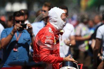 World © Octane Photographic Ltd. Formula 1 – British GP - Grid. Scuderia Ferrari SF71-H – Sebastian Vettel. Silverstone Circuit, Towcester, UK. Sunday 8th July 2018.