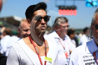 World © Octane Photographic Ltd. Formula 1 - British GP - Grid. Siddharth Mallya - Sahara Force India. Silverstone Circuit, Towcester, UK. Sunday 8th July 2018.