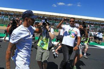 World © Octane Photographic Ltd. Formula 1 – British GP - Drivers' Parade. Mercedes AMG Petronas Motorsport AMG F1 W09 EQ Power+ - Lewis Hamilton. Silverstone Circuit, Towcester, UK. Sunday 8th July 2018.