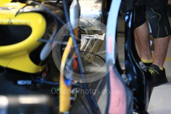 World © Octane Photographic Ltd. Formula 1 – British GP - Paddock. Renault Sport F1 Team RS18. Silverstone Circuit, Towcester, UK. Saturday 7th July 2018.