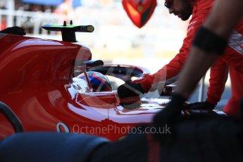 World © Octane Photographic Ltd. Formula 1 – British GP - Paddock. Scuderia Ferrari SF71-H. Silverstone Circuit, Towcester, UK. Saturday 7th July 2018.