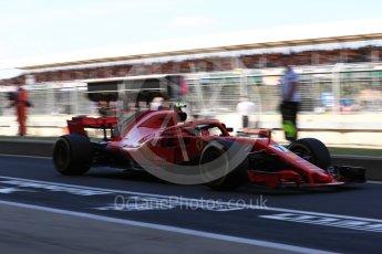 World © Octane Photographic Ltd. Formula 1 – British GP - Paddock. Scuderia Ferrari SF71-H – Kimi Raikkonen. Silverstone Circuit, Towcester, UK. Saturday 7th July 2018.
