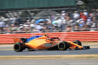 World © Octane Photographic Ltd. Formula 1 – British GP - Qualifying. McLaren MCL33 – Stoffel Vandoorne. Silverstone Circuit, Towcester, UK. Saturday 7th July 2018.