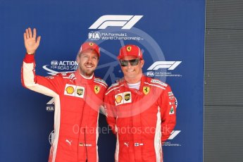 World © Octane Photographic Ltd. Formula 1 – British GP - Qualifying. Scuderia Ferrari SF71-H – Sebastian Vettel and Kimi Raikkonen. Silverstone Circuit, Towcester, UK. Saturday 7th July 2018.