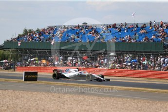 World © Octane Photographic Ltd. Formula 1 – British GP - Qualifying. Williams Martini Racing FW41 – Lance Stroll. Silverstone Circuit, Towcester, UK. Saturday 7th July 2018.