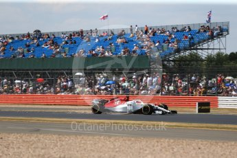 World © Octane Photographic Ltd. Formula 1 – British GP - Qualifying. Alfa Romeo Sauber F1 Team C37 – Marcus Ericsson. Silverstone Circuit, Towcester, UK. Saturday 7th July 2018.