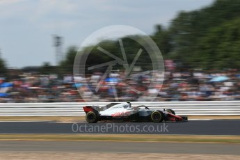 World © Octane Photographic Ltd. Formula 1 – British GP - Qualifying. Haas F1 Team VF-18 – Kevin Magnussen. Silverstone Circuit, Towcester, UK. Saturday 7th July 2018.