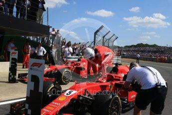 World © Octane Photographic Ltd. Formula 1 – British GP - Parc Ferme. Scuderia Ferrari SF71-H – Sebastian Vettel. Silverstone Circuit, Towcester, UK. Sunday 8th July 2018.