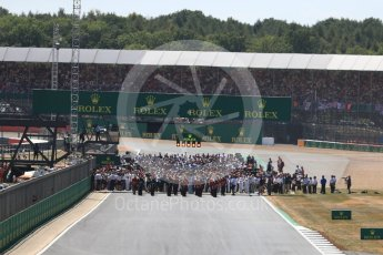 World © Octane Photographic Ltd. Formula 1 – British GP - Race. The grid. Silverstone Circuit, Towcester, UK. Sunday 8th July 2018.
