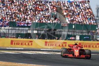 World © Octane Photographic Ltd. Formula 1 – British GP - Race. Scuderia Ferrari SF71-H – Kimi Raikkonen. Silverstone Circuit, Towcester, UK. Sunday 8th July 2018.