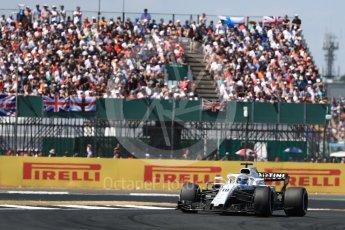 World © Octane Photographic Ltd. Formula 1 – British GP - Race. Williams Martini Racing FW41 – Lance Stroll. Silverstone Circuit, Towcester, UK. Sunday 8th July 2018.