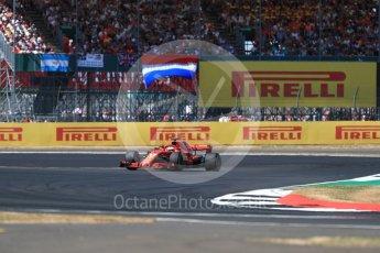 World © Octane Photographic Ltd. Formula 1 – British GP - Race. Scuderia Ferrari SF71-H – Sebastian Vettel. Silverstone Circuit, Towcester, UK. Sunday 8th July 2018.