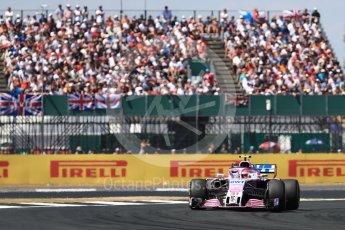 World © Octane Photographic Ltd. Formula 1 – British GP - Race. Sahara Force India VJM11 - Esteban Ocon. Silverstone Circuit, Towcester, UK. Sunday 8th July 2018.