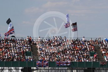 World © Octane Photographic Ltd. Formula 1 – British GP - Race. Fans in the grandstands. Silverstone Circuit, Towcester, UK. Sunday 8th July 2018.