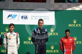 World © Octane Photographic Ltd. FIA Formula 2 (F2) – Spanish GP - Race 1. DAMS - Alexander Albon, ART Grand Prix - George Russell and Carouz - Antonio Fuoco. Circuit de Barcelona-Catalunya, Spain. Saturday 7th July 2018.