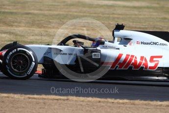 World © Octane Photographic Ltd. Formula 1 – British GP - Practice 1. Haas F1 Team VF-18 – Romain Grosjean. Silverstone Circuit, Towcester, UK. Friday 6th July 2018.