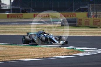 World © Octane Photographic Ltd. Formula 1 – British GP - Practice 1. Mercedes AMG Petronas Motorsport AMG F1 W09 EQ Power+ - Valtteri Bottas. Silverstone Circuit, Towcester, UK. Friday 6th July 2018.