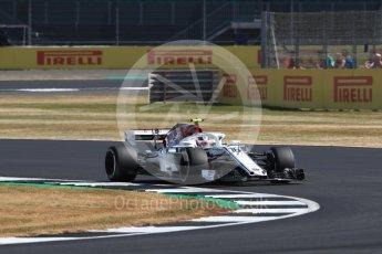 World © Octane Photographic Ltd. Formula 1 – British GP - Practice 1. Alfa Romeo Sauber F1 Team C37 – Charles Leclerc. Silverstone Circuit, Towcester, UK. Friday 6th July 2018.