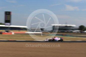 World © Octane Photographic Ltd. Formula 1 – British GP - Practice 1. Sahara Force India VJM11 - Sergio Perez. Silverstone Circuit, Towcester, UK. Friday 6th July 2018.