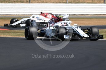 World © Octane Photographic Ltd. Formula 1 – British GP - Practice 2. Alfa Romeo Sauber F1 Team C37 – Charles Leclerc and Marcus Ericsson. Silverstone Circuit, Towcester, UK. Friday 6th July 2018.