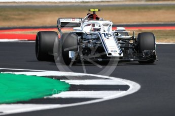 World © Octane Photographic Ltd. Formula 1 – British GP - Practice 2. Alfa Romeo Sauber F1 Team C37 – Charles Leclerc. Silverstone Circuit, Towcester, UK. Friday 6th July 2018.