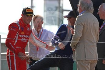 World © Octane Photographic Ltd. GP3 – British GP – Race 2. Trident - Guiliano Alesi with Nelson Picquet and Jean Alsei. Silverstone Circuit, Towcester, UK. Sunday 8th July 2018.