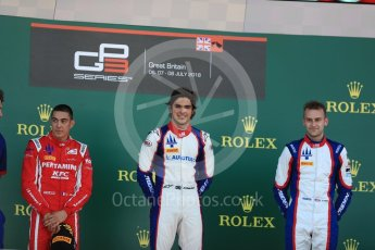 World © Octane Photographic Ltd. GP3 – British GP – Race 2. Trident - Pedro Piquet, Guiliano Alesi  and Ryan Tveter. Silverstone Circuit, Towcester, UK. Sunday 8th July 2018.