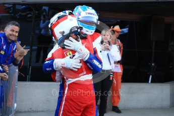 World © Octane Photographic Ltd. GP3 – British GP – Race 2. Trident - Ryan Tveter and Guiliano Alesi. Silverstone Circuit, Towcester, UK. Sunday 8th July 2018.