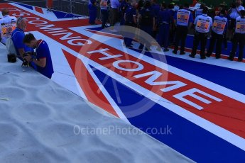 World © Octane Photographic Ltd. GP3 – British GP – Race 2. It's Coming Home pitman artwork. Silverstone Circuit, Towcester, UK. Sunday 8th July 2018.