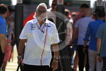 World © Octane Photographic Ltd. Formula 1 - British GP - Paddock. Vijay Mallya - Sahara Force India. Silverstone Circuit, Towcester, UK. Sunday 8th July 2018.