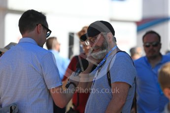 World © Octane Photographic Ltd. Formula 1 - British GP - Paddock. Liam Cunningham (Davos Seaworth in Game of Thrones) Silverstone Circuit, Towcester, UK. Sunday 8th July 2018.