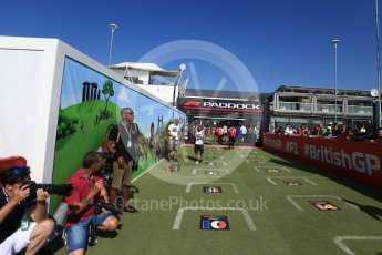 World © Octane Photographic Ltd. Formula 1 – British GP - Paddock. Fan Zone. Silverstone Circuit, Towcester, UK. Sunday 8th July 2018.