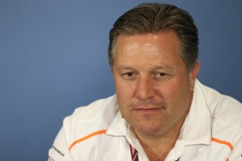 World © Octane Photographic Ltd. Formula 1 - British GP - Friday FIA Team Press Conference. Zak Brown - Executive Director of McLaren Technology Group. Silverstone Circuit, Towcester, UK. Friday 6th July 2018.