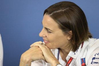 World © Octane Photographic Ltd. Formula 1 - British GP - Friday FIA Team Press Conference. Claire Williams - Deputy Team Principal of Williams Martini Racing. Silverstone Circuit, Towcester, UK. Friday 6th July 2018.