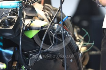 World © Octane Photographic Ltd. Formula 1 – British GP - Pit Lane. Mercedes AMG Petronas Motorsport AMG F1 W09 EQ Power+. Silverstone Circuit, Towcester, UK. Thursday 5th July 2018.