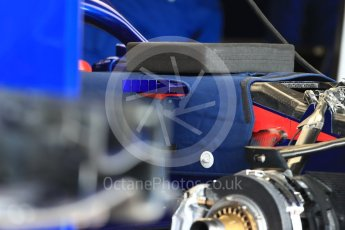World © Octane Photographic Ltd. Formula 1 – British GP - Pit Lane. Scuderia Toro Rosso STR13. Silverstone Circuit, Towcester, UK. Thursday 5th July 2018.